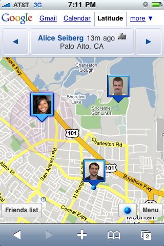 google latitudeیافتن مکان افراد روی نقشه