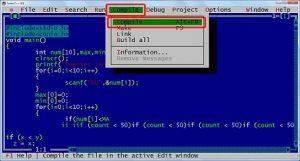 آموزش کامل کار با نرم افزار Turbo C